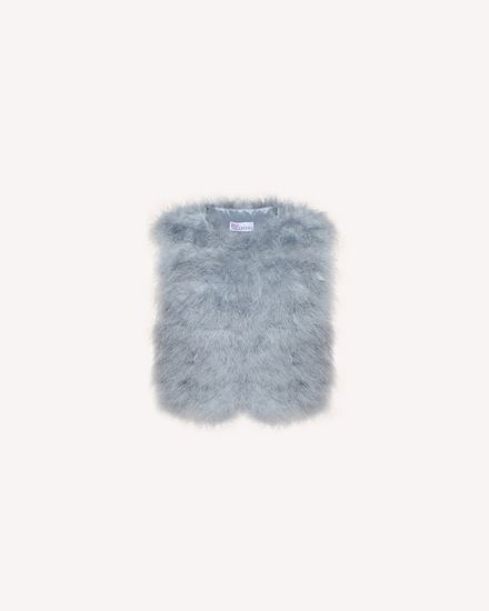 Marabou feather vest