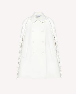 REDValentino Ruffle detail fused Tech fabric cape