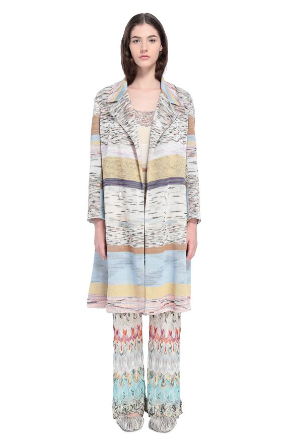 MISSONI Coat Woman, Frontal view