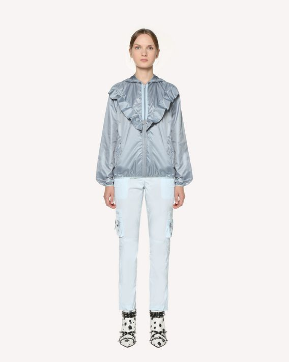REDValentino Shell jacket with ruffle detail