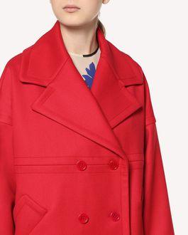 REDValentino  Tricotine Tech oversize coat