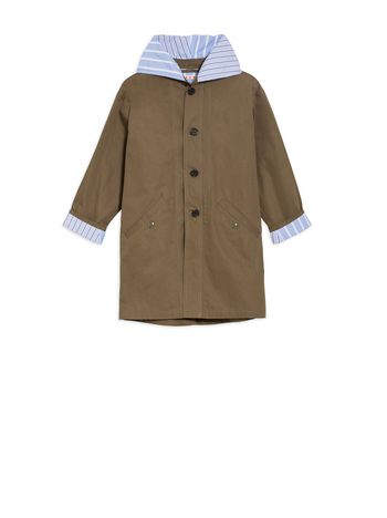 Marni Hooded parka in cotton gabardine Man