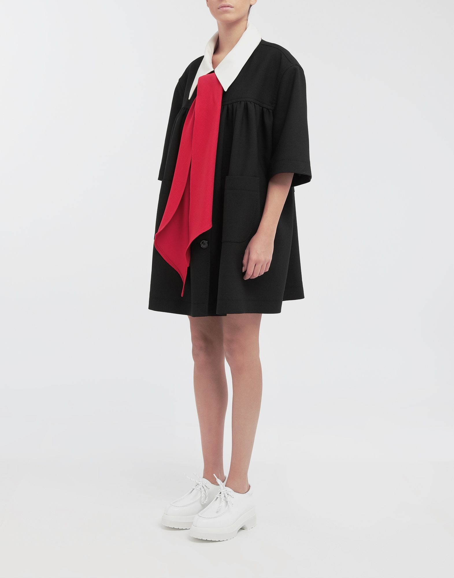 MM6 MAISON MARGIELA Oversized necktie sports jacket Full-length jacket Woman r