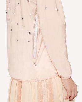 REDValentino Rhinestones detail Nylon shell jacket