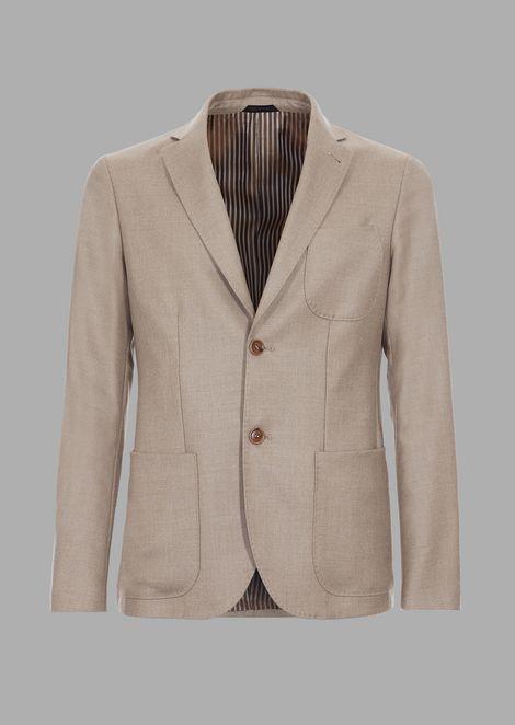 Slim-fit Tokyo range jacket in cashmere cavalry