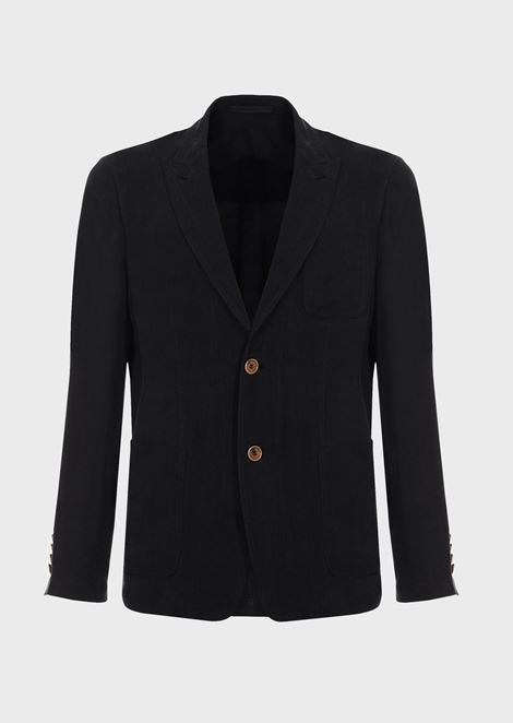 Slim-fit deconstructed jacket in washed cupro natté