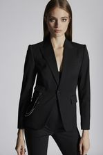 DSQUARED2 Chic Stretch Wool Double Chain Rodeo Blazer JACKET/BLAZER Woman