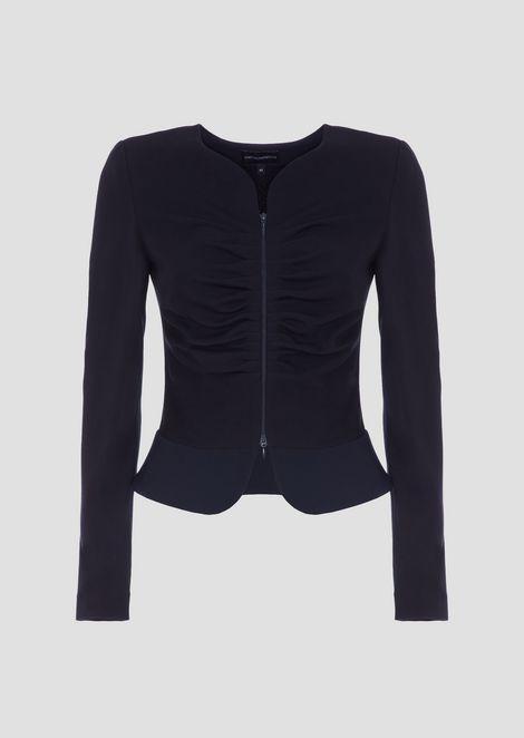 Ausgestellte Jacke aus Heavy Jersey mit Reißverschluss