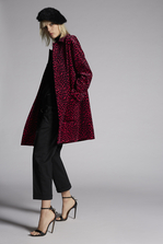 DSQUARED2 Leopart Velvet Maxi Coat Coat Woman