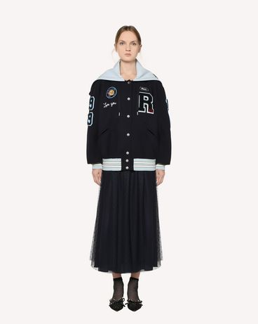REDValentino Light Tech bomber with embroidered space patches