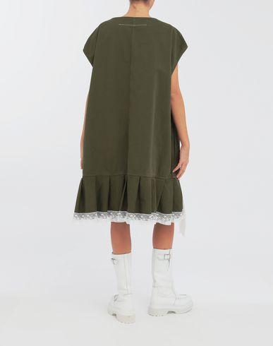 DRESSES Oversized lace-trimmed dress