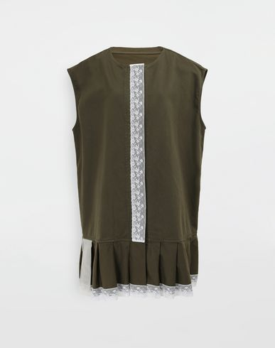 MM6 MAISON MARGIELA Vest [*** pickupInStoreShipping_info ***] Oversized lace-trimmed dress f