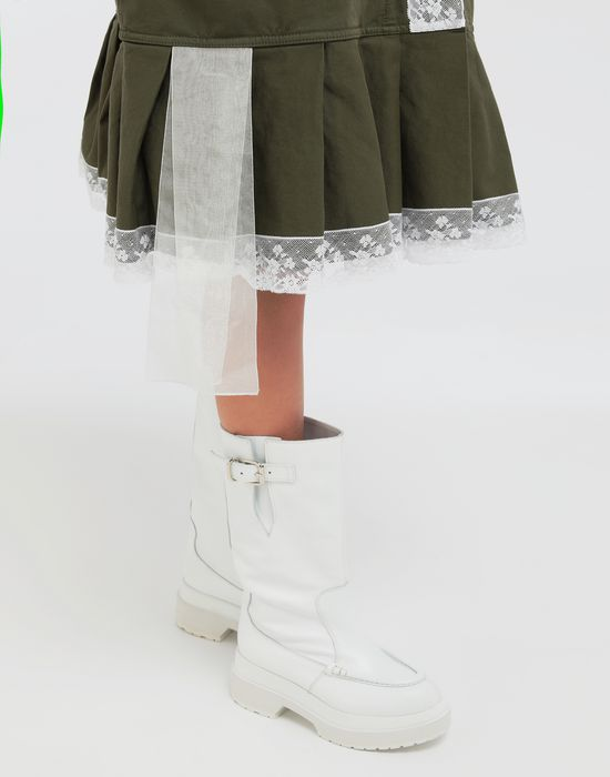 MM6 MAISON MARGIELA Oversized lace-trimmed dress Short dress [*** pickupInStoreShipping_info ***] b