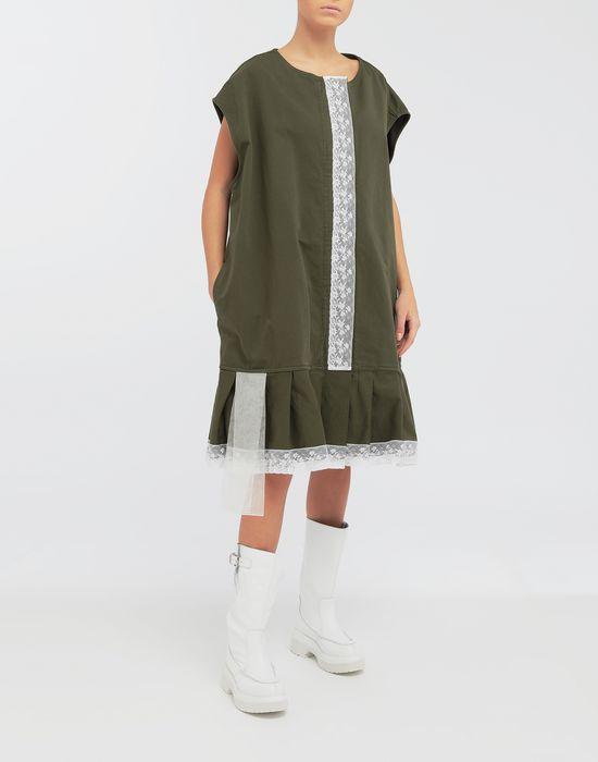 MM6 MAISON MARGIELA Oversized lace-trimmed dress Short dress [*** pickupInStoreShipping_info ***] d