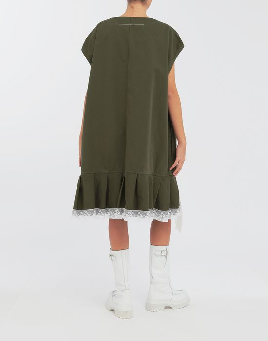 MM6 MAISON MARGIELA Oversized lace-trimmed dress Short dress [*** pickupInStoreShipping_info ***] e