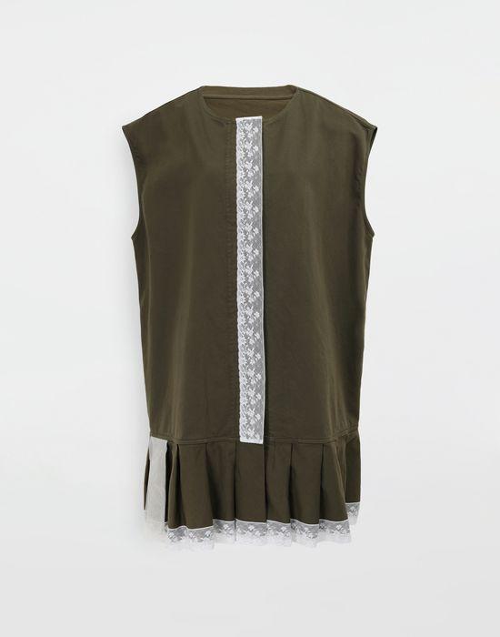 MM6 MAISON MARGIELA Oversized lace-trimmed dress Short dress [*** pickupInStoreShipping_info ***] f