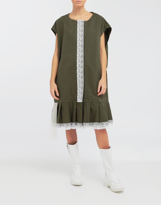 MM6 MAISON MARGIELA Oversized lace-trimmed dress Short dress [*** pickupInStoreShipping_info ***] r