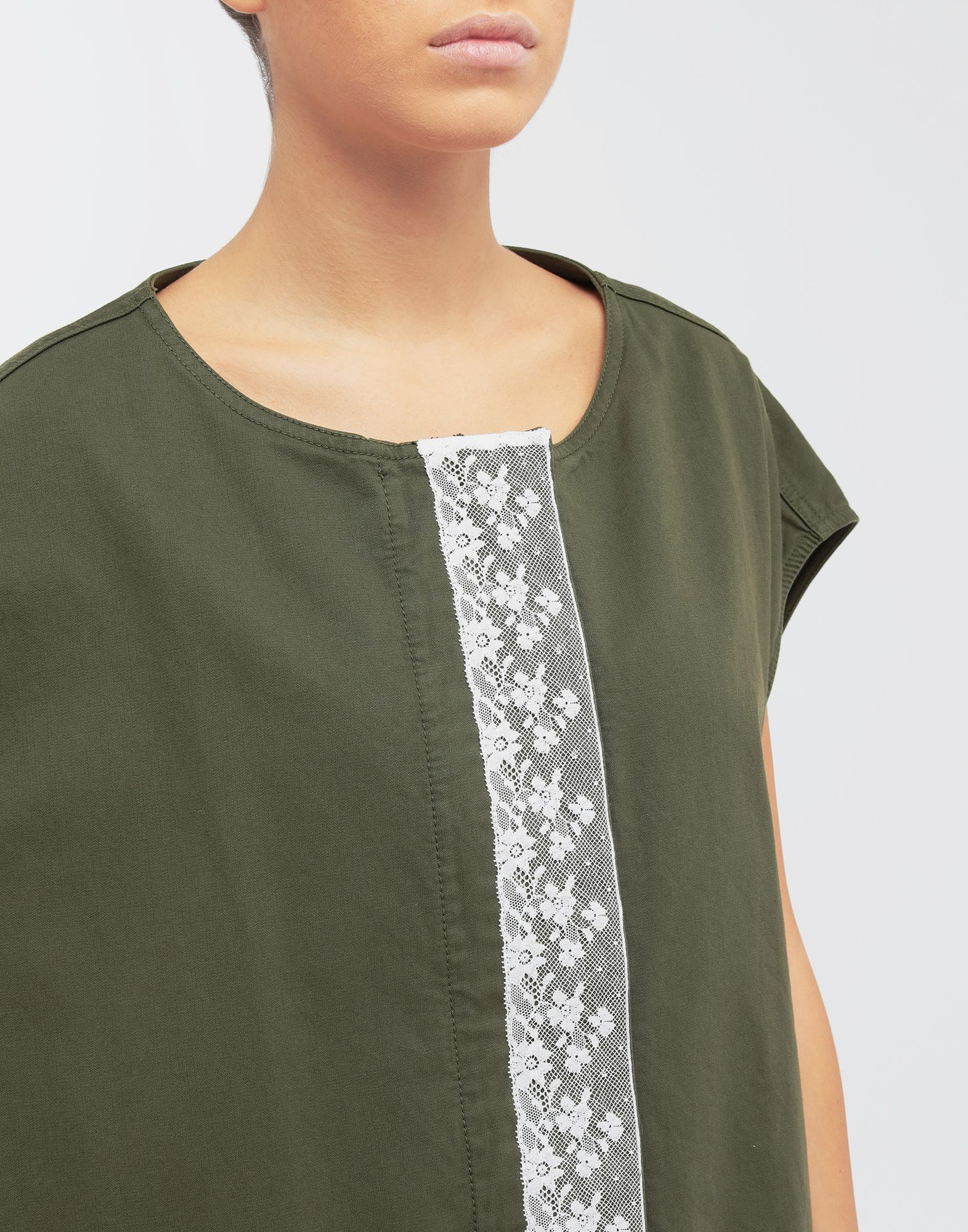 MM6 MAISON MARGIELA Oversized lace-trimmed dress Short dress Woman a