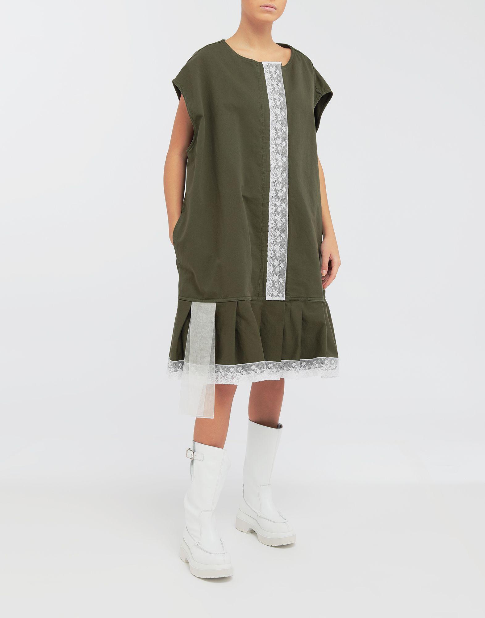 MM6 MAISON MARGIELA Oversized lace-trimmed dress Short dress Woman d