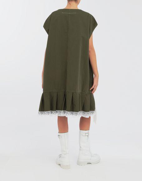 MM6 MAISON MARGIELA Oversized lace-trimmed dress Short dress Woman e