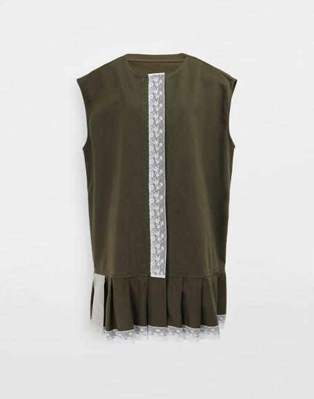 MM6 MAISON MARGIELA Oversized lace-trimmed dress Short dress Woman f