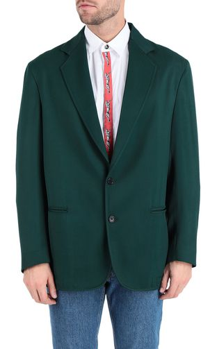 Longline blazer with cheetah band