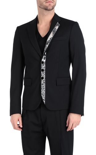 JUST CAVALLI Blazer Man Jacket with python-print band f