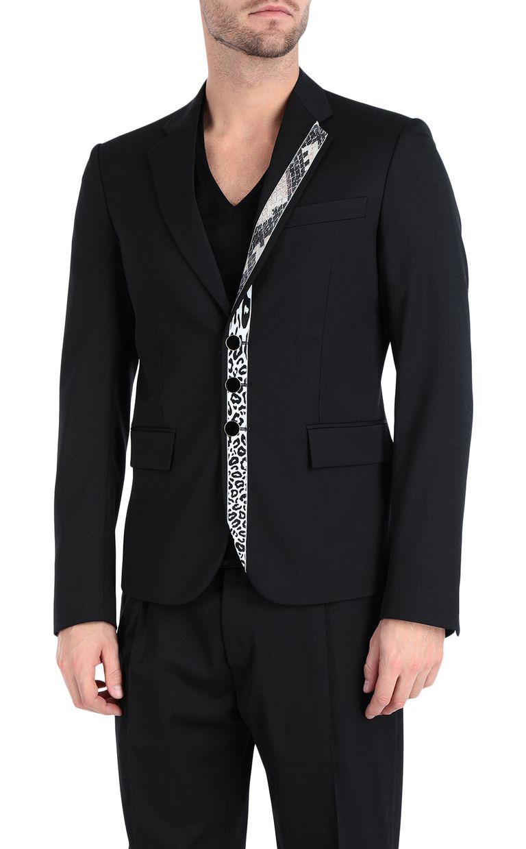 JUST CAVALLI Jacket with python-print band Blazer Man f
