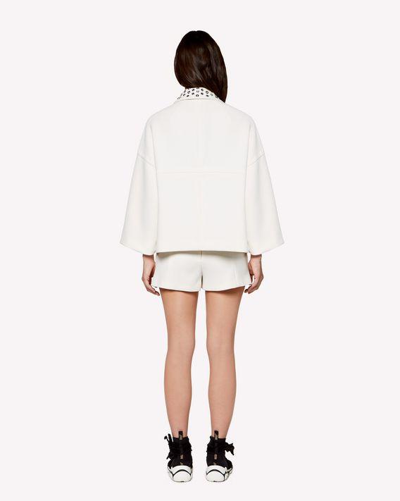 REDValentino Rhinestones detail Fused Crepe boxy jacket