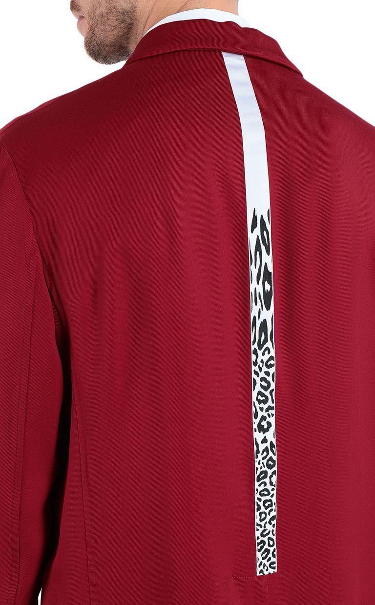 JUST CAVALLI Longline blazer with leopard band Blazer Man e