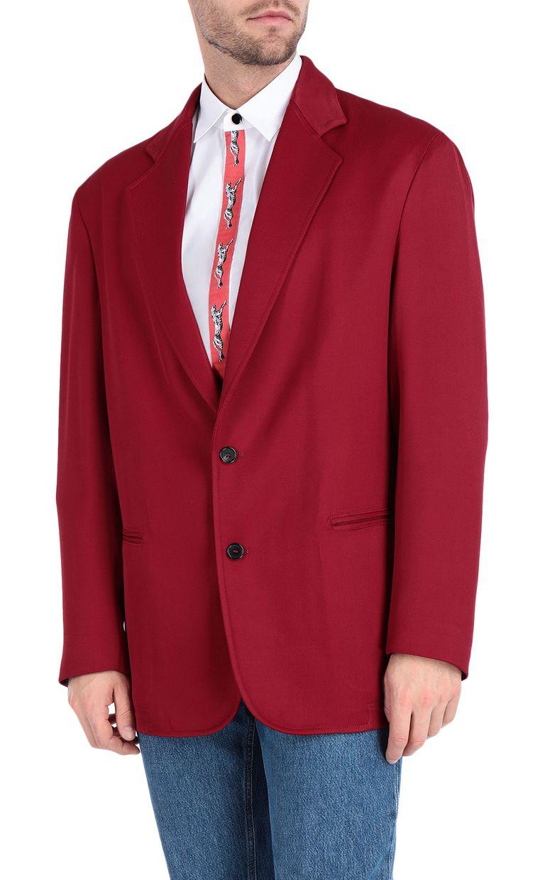 JUST CAVALLI Longline blazer with leopard band Blazer Man f