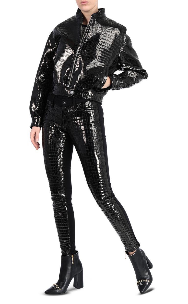 JUST CAVALLI Crocodile-print bomber jacket Jacket Woman d