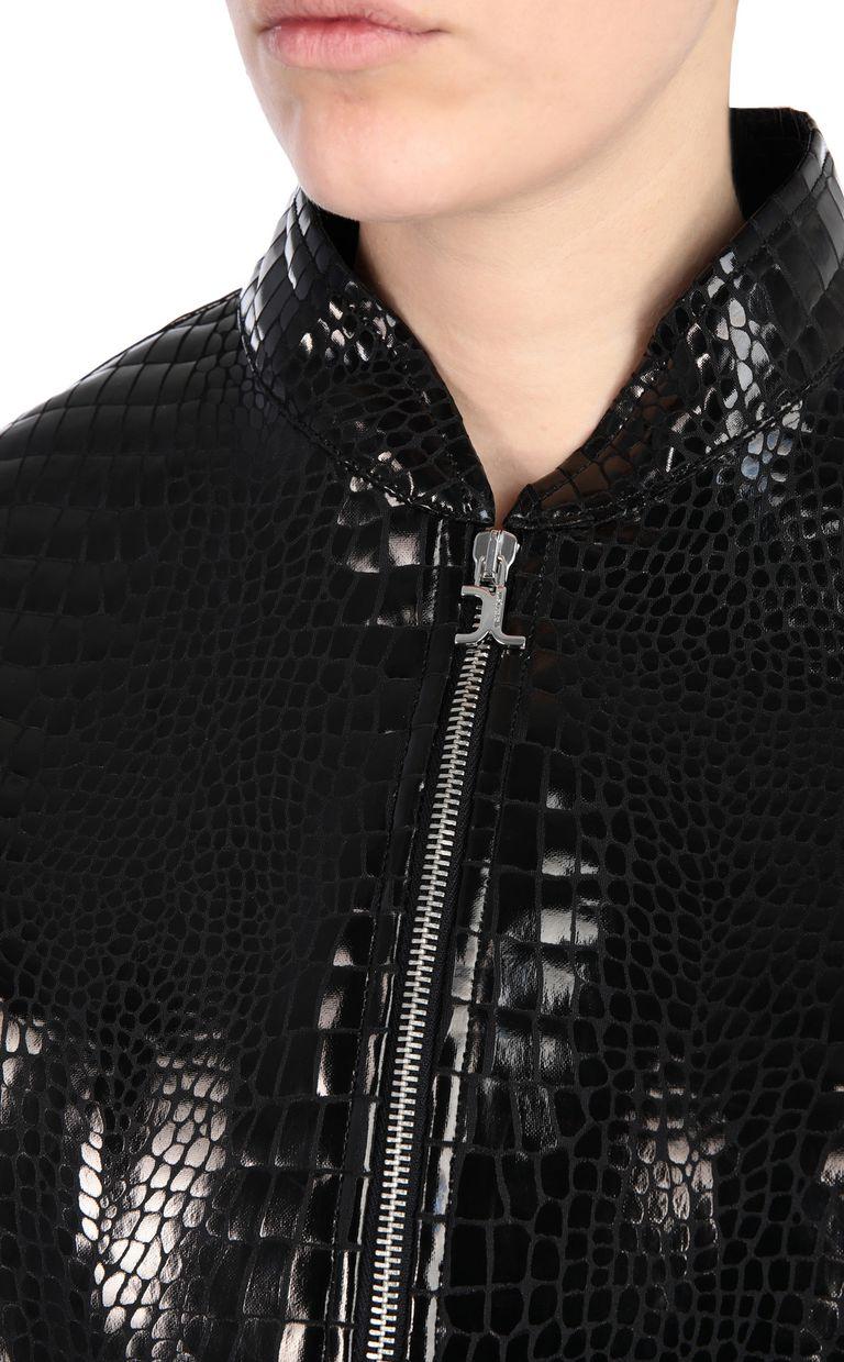 JUST CAVALLI Crocodile-print bomber jacket Jacket Woman e