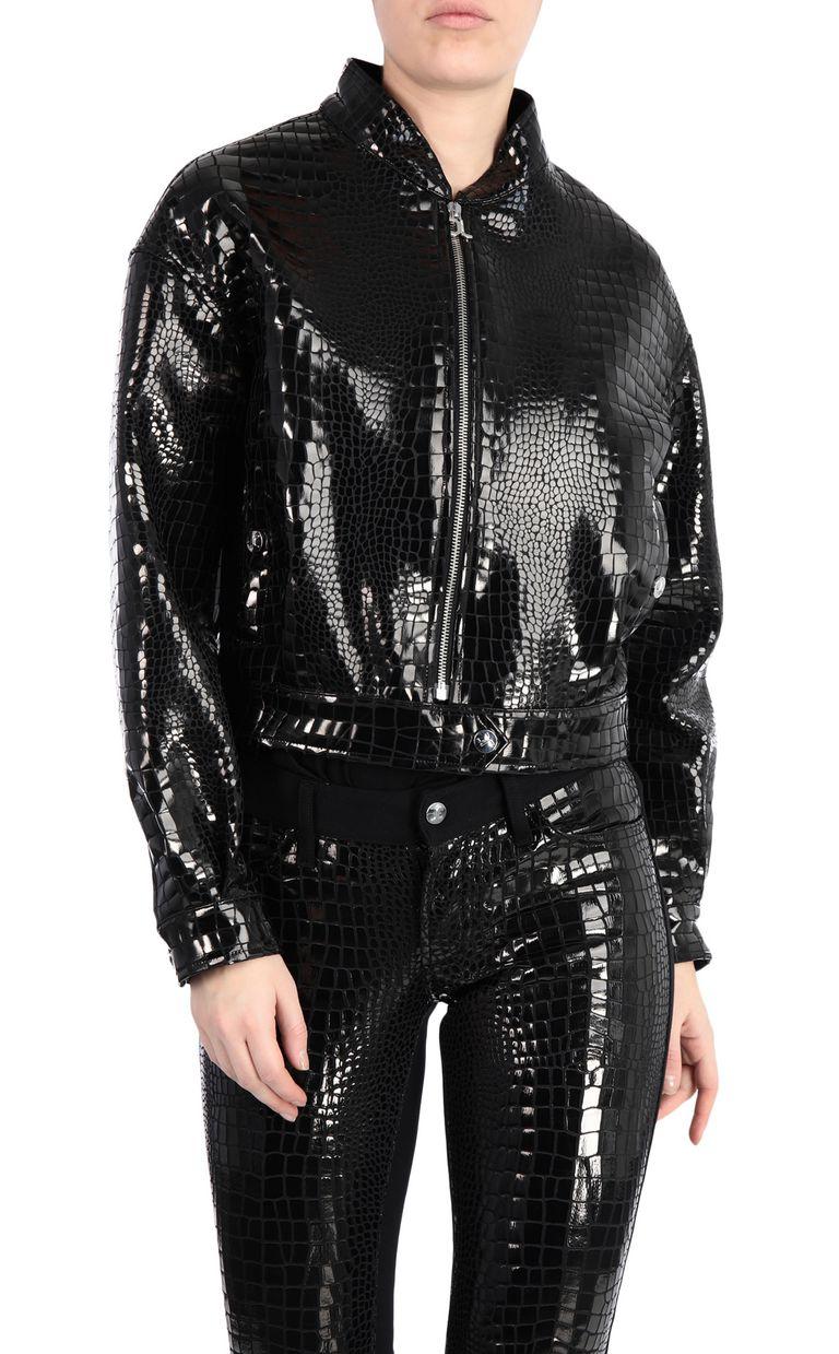 JUST CAVALLI Crocodile-print bomber jacket Jacket Woman f