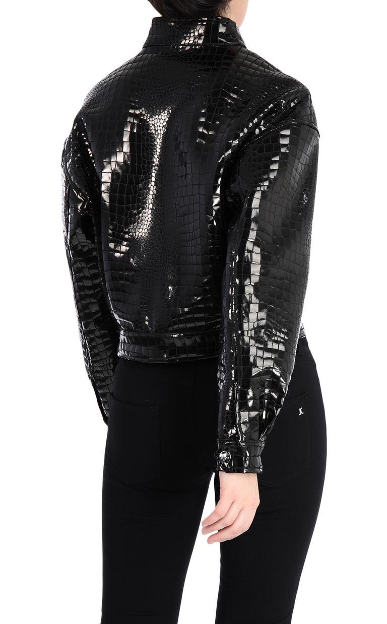 JUST CAVALLI Crocodile-print bomber jacket Jacket Woman r