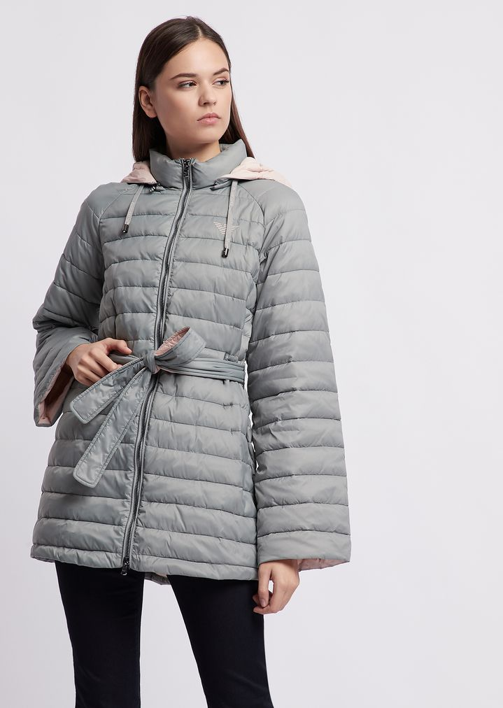 9db815721d Quilted nylon jacket with oversized hood