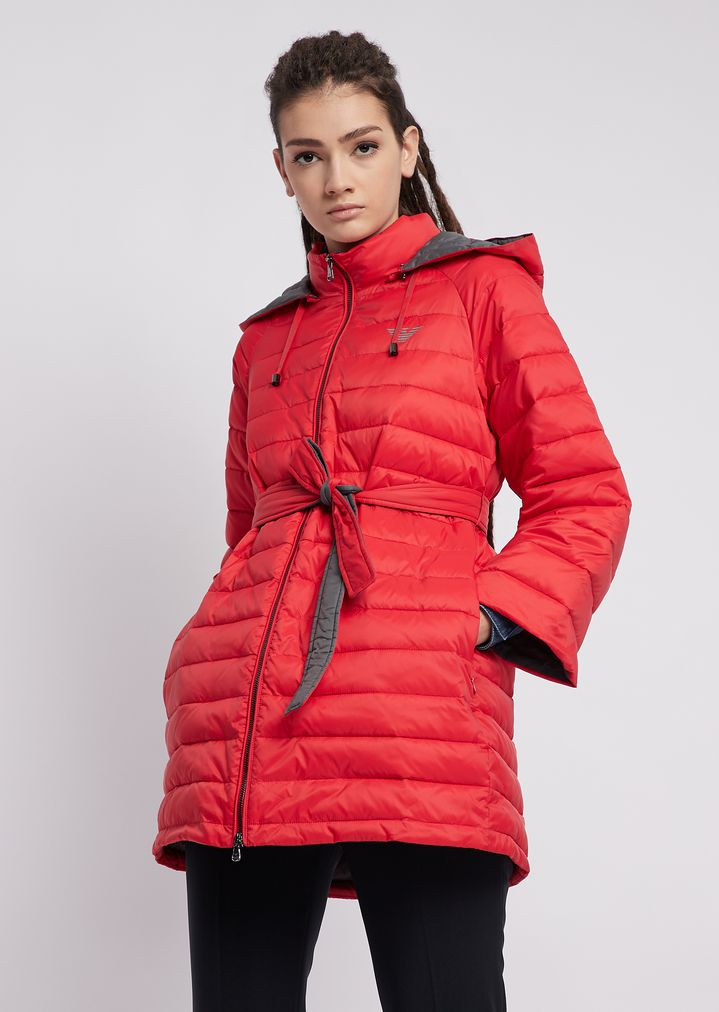 1b2de1f11c Quilted nylon jacket with oversized hood