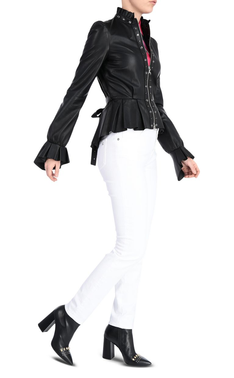 JUST CAVALLI Black-leather jacket Leather Jacket Woman d