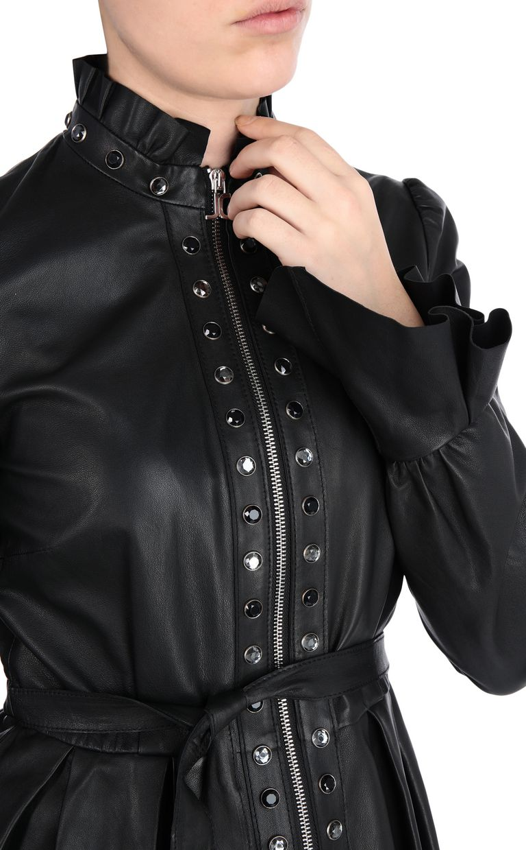 JUST CAVALLI Black-leather jacket Leather Jacket [*** pickupInStoreShipping_info ***] e