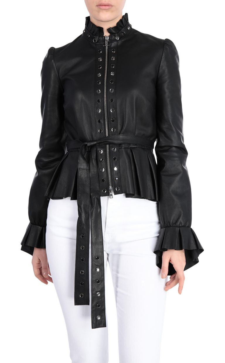 JUST CAVALLI Black-leather jacket Leather Jacket Woman f