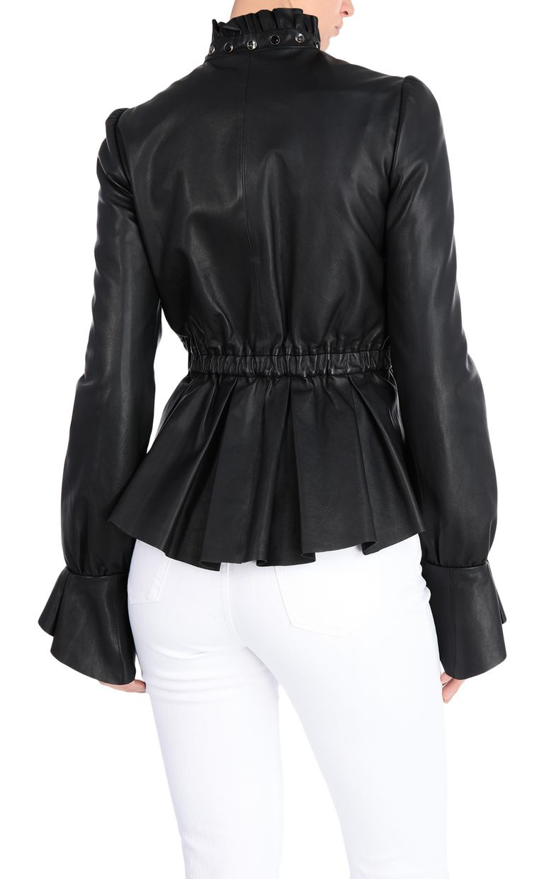 JUST CAVALLI Black-leather jacket Leather Jacket Woman r