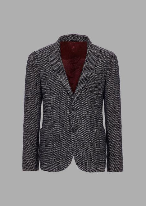Regular-fit Upton Line jacket in diamond-embossed fabric