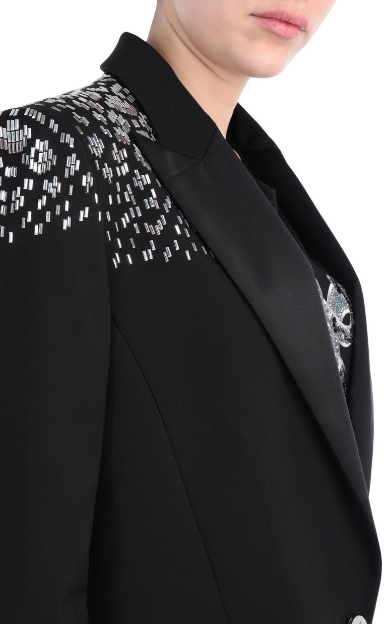 JUST CAVALLI Studded jacket with python pattern Blazer Woman e