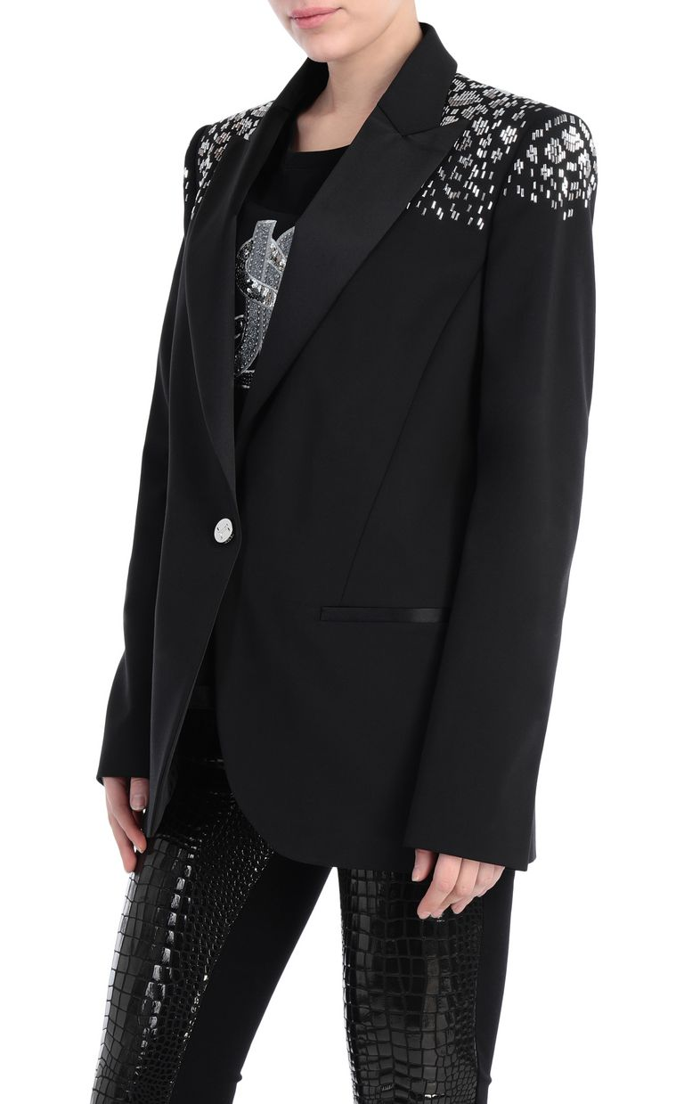 JUST CAVALLI Studded jacket with python pattern Blazer Woman f