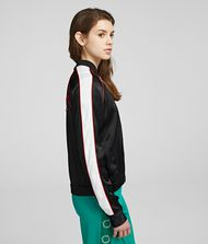 KARL LAGERFELD K/Signature Satin Bomber Jacket Woman d