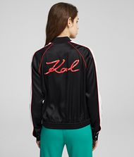 KARL LAGERFELD K/Signature Satin Bomber Jacket Woman r
