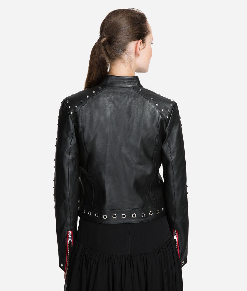 KARL LAGERFELD Studded Leather Jacket Jacket Woman d