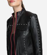 KARL LAGERFELD Studded Leather Jacket 9_f