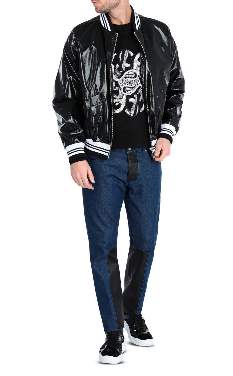 JUST CAVALLI Animal-print bomber jacket Jacket Man d