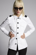 DSQUARED2 Cotton Twill Military Jacket Jacket Woman